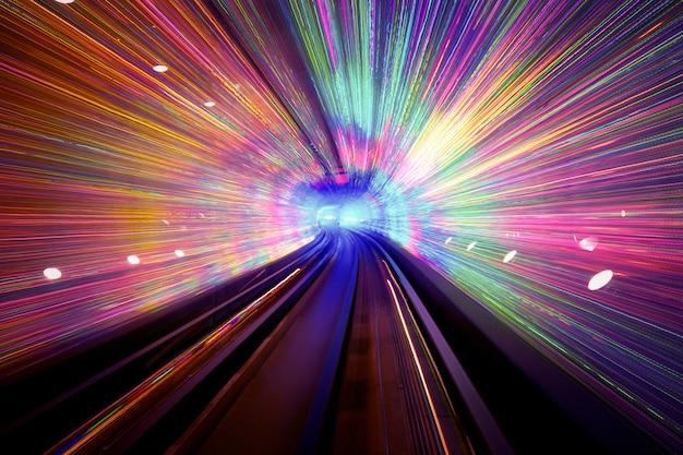Fundo do túnel de luz Foto gratuita