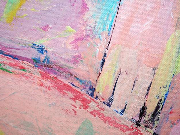 Fundo doce colorido do sumário da pintura de óleo da escova de pintura das cores. Foto Premium