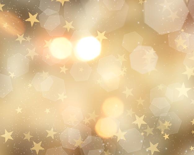 Fundo dourado de natal Foto gratuita