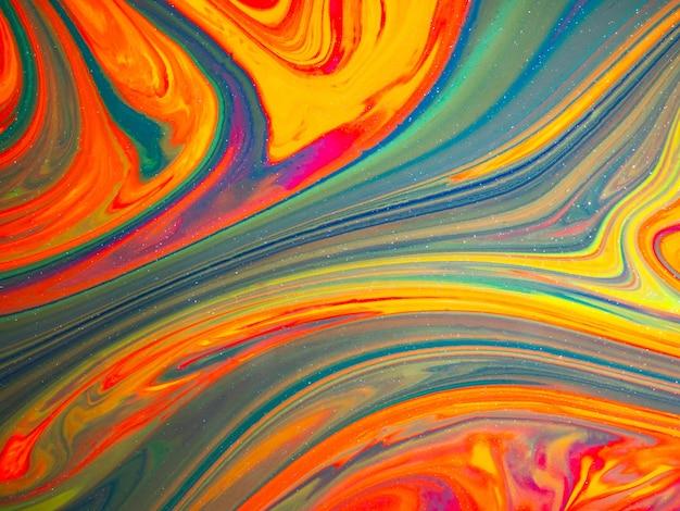 Fundo e textura coloridos abstratos ilustração de cores líquidas Foto Premium