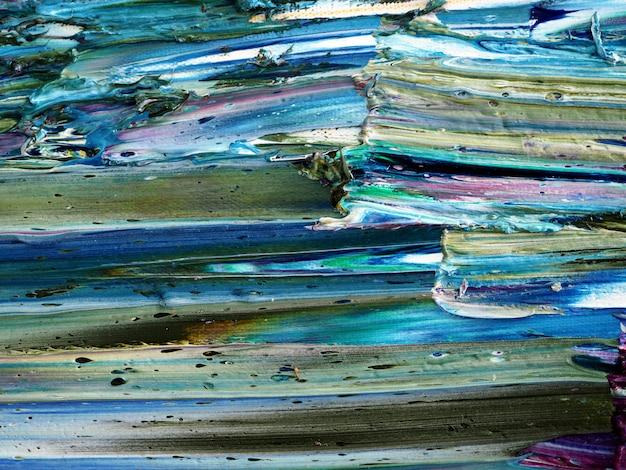 Fundo e textura coloridos do sumário do movimento da pintura de óleo. Foto Premium
