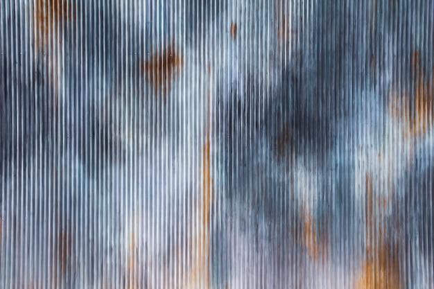 Fundo e textura oxidados velhos do grunge do zinco Foto Premium