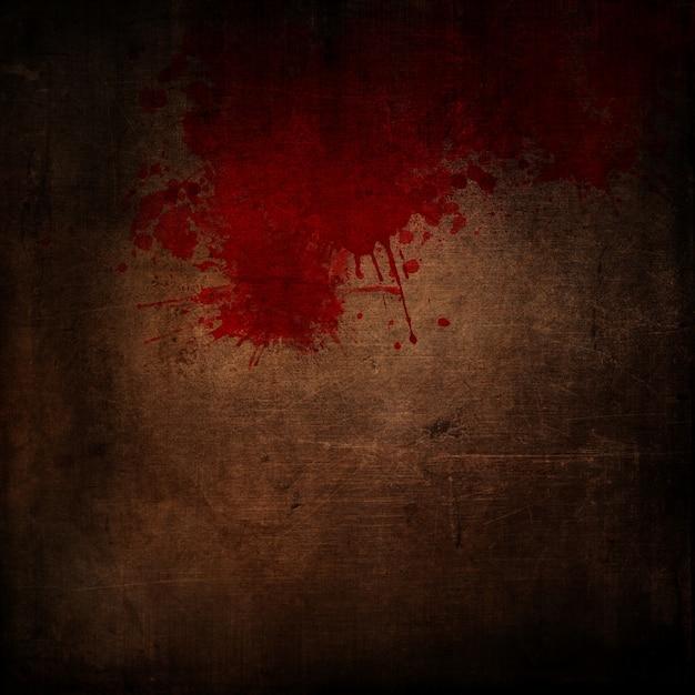 Fundo escuro estilo grunge com respingos de sangue Foto gratuita