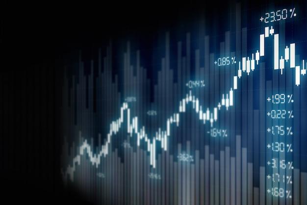 Fundo financeiro gráfico do mercado de ações, tela de tecnologia Foto Premium