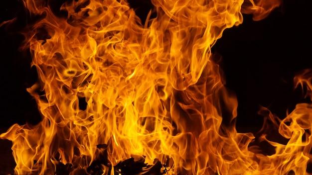 Fundo flamejante flamejante e texturizado Foto Premium