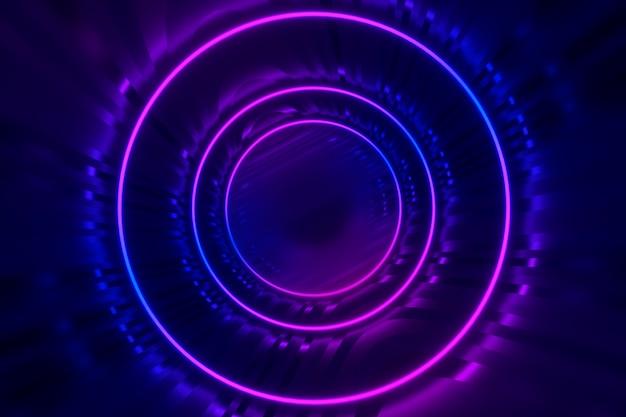 Fundo futurista brilhante círculos Foto Premium