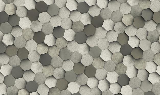 Fundo geométrico abstrato de hexagonal Foto Premium