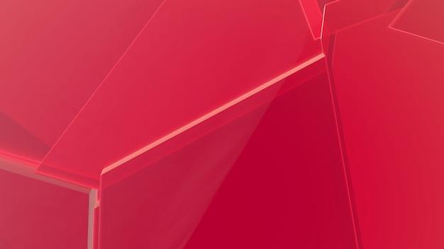 Fundo geométrico abstrato vermelho Foto Premium