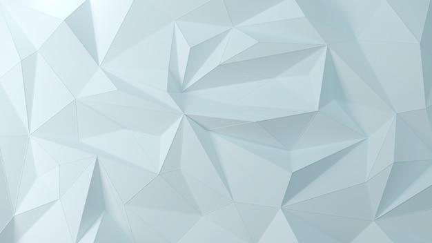 Fundo geométrico azul luz 3d da partícula Foto Premium