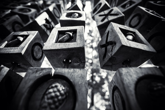 Fundo geométrico preto e branco Foto Premium
