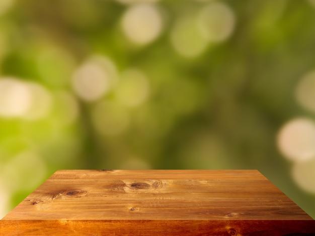 Fundo interior de tampo de mesa de prancha de madeira de luxo premium Foto Premium