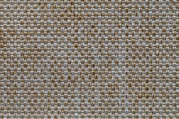 Fundo laranja têxtil com padrão de xadrez, closeup Foto Premium
