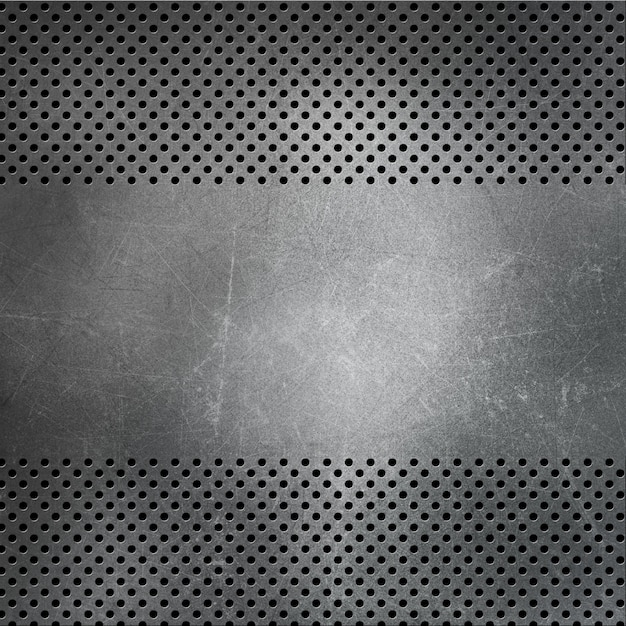 Fundo metálico perfurado com arranhões e manchas Foto gratuita
