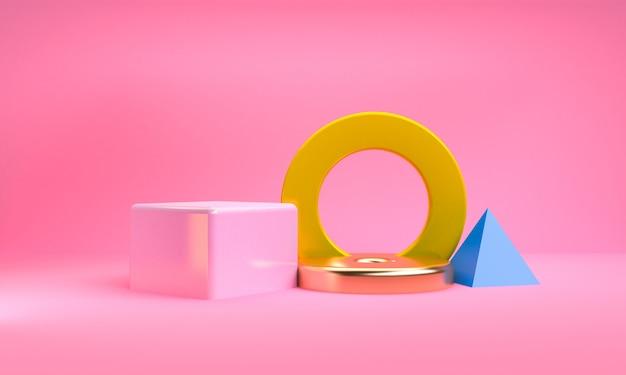 Fundo minimalista figuras geométricas abstratas Foto Premium