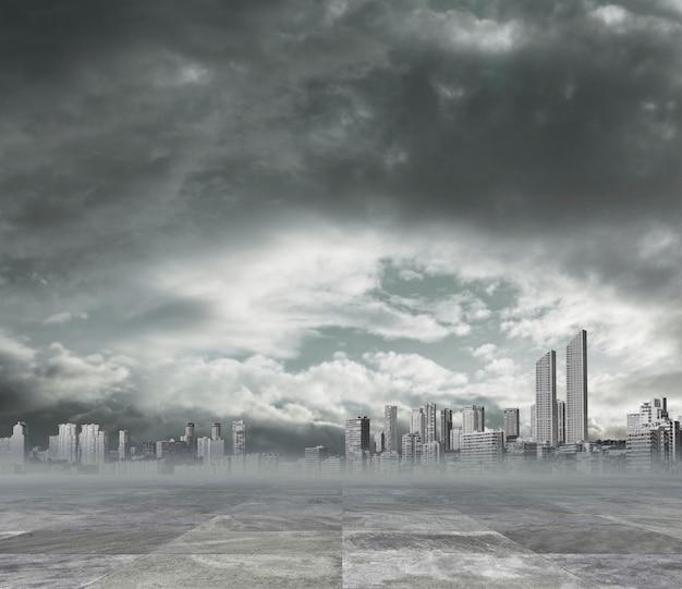 Fundo poluída cidade Foto gratuita