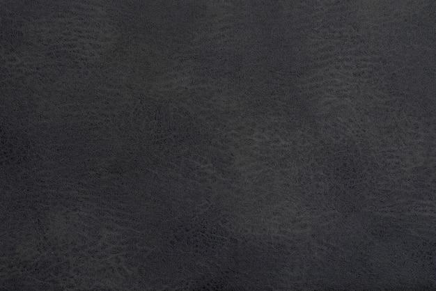 Fundo preto de couro e abstrato, detalhe do fundo de couro cinza Foto Premium