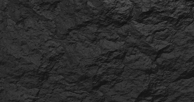 Fundo preto de pedra abstrato. renderização 3d. Foto Premium