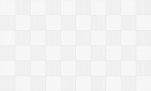Fundo quadrado cinzento branco sem emenda da parede do teste padrão das telhas. Foto Premium