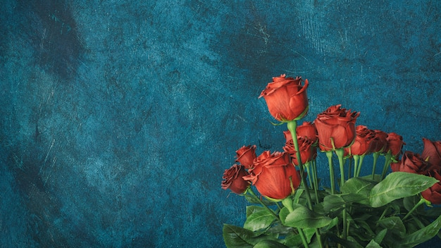Fundo rosa vermelho com copyspace Foto Premium