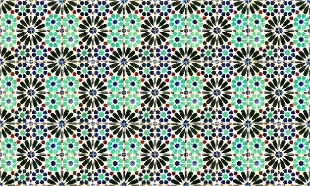 Fundo sem emenda de portugal ou da telha de espanha azulejo. alta resolução. Foto Premium