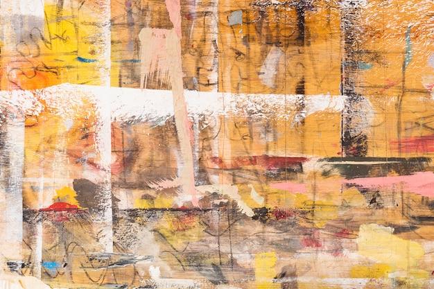 Fundo texturizado de madeira pintado sujo Foto gratuita