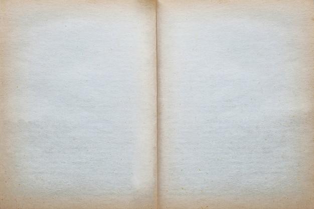 Fundo velho vazio da textura do papel da página do vintage. Foto Premium
