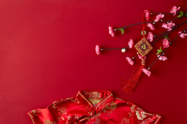 Fundo vermelho chinês do ano novo. Foto Premium