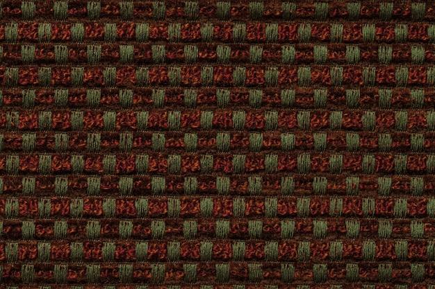 Fundo vermelho e verde escuro de têxtil padrão quadriculada Foto Premium