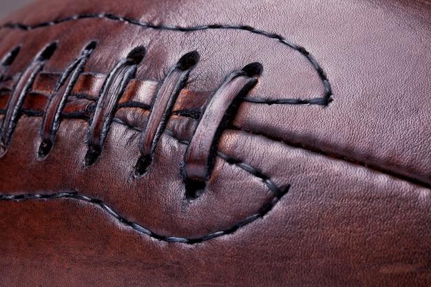 Futebol vintage de couro Foto Premium