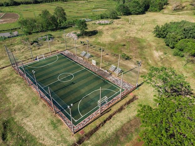 Futsal ao ar livre, quadra de futebol Foto Premium