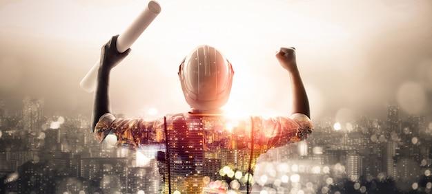 Futuro projeto de engenharia de construção civil. Foto Premium