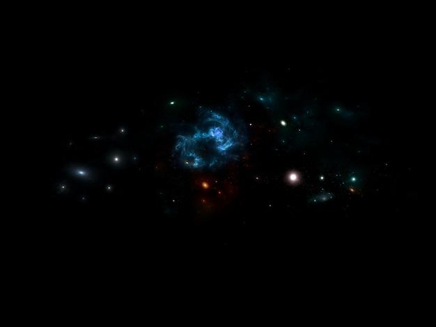 Galáxia e estrelas foto premium, buraco negro fundo do espaço com estrelas brilhantes, poeira estelar e nebulosa. cosmos realistas. galáxia colorida com a via láctea e o planeta. Foto Premium