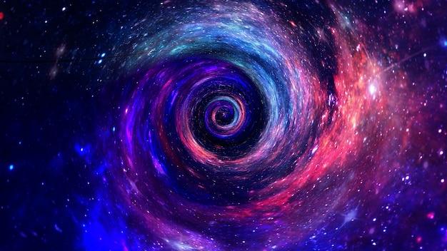 Galáxia um sistema de milhões ou bilhões de estrelas, juntamente com gás e poeira, Foto Premium