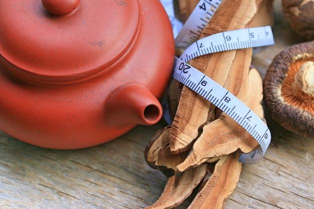 Ganoderma lucidum chá quente Foto Premium