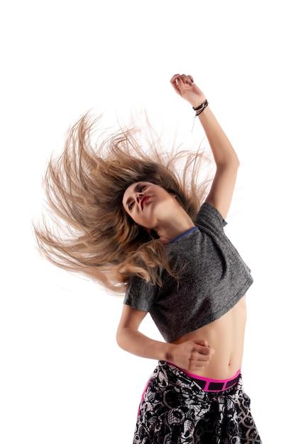 Garota de exercício fitness Foto Premium