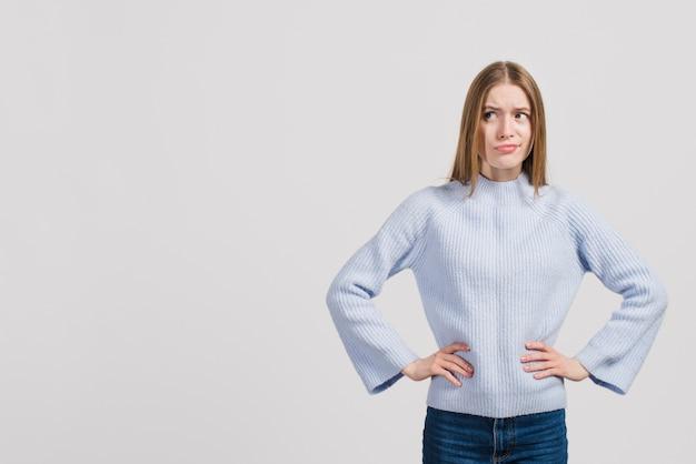 Garota enfurecida Foto gratuita