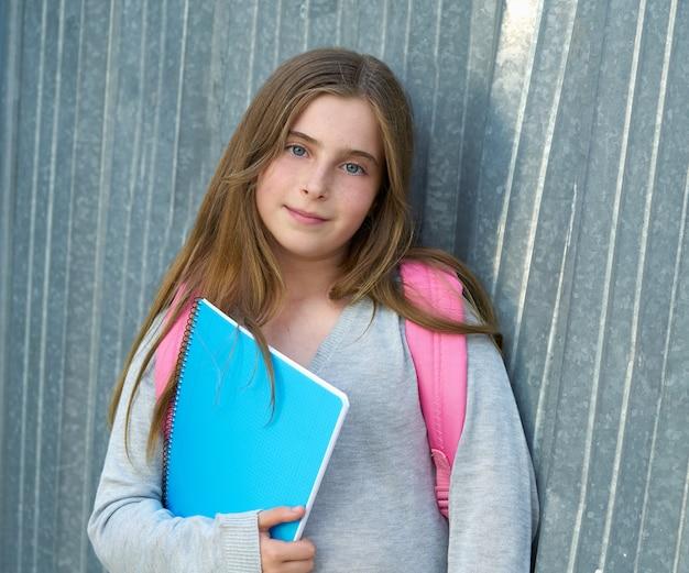 Garota garoto estudante garoto volta para a escola Foto Premium