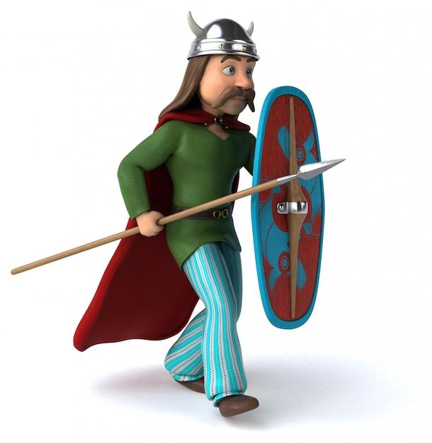 Gaul warrior - ilustração 3d Foto Premium