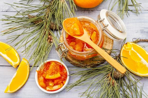Geléia de frutas laranja Foto Premium