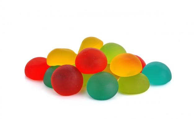 Geleia doces doces de açúcar isolados Foto Premium