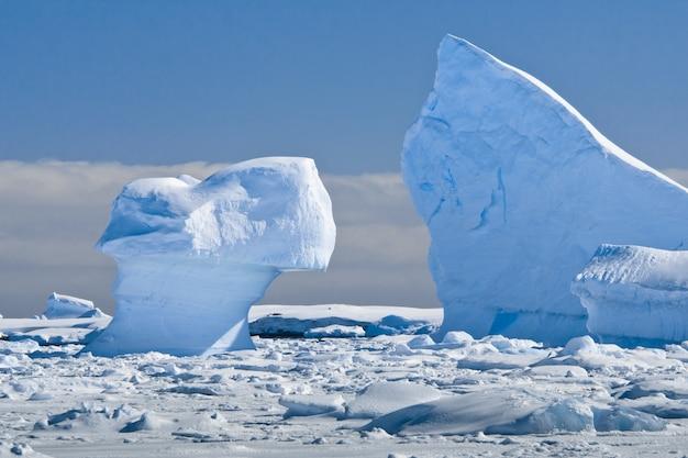 Geleira antártica Foto Premium