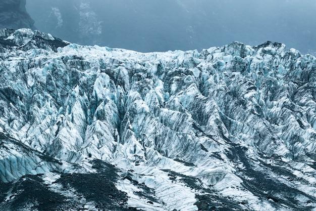 Gelo congelado em franz josef geleira nova zelândia Foto Premium
