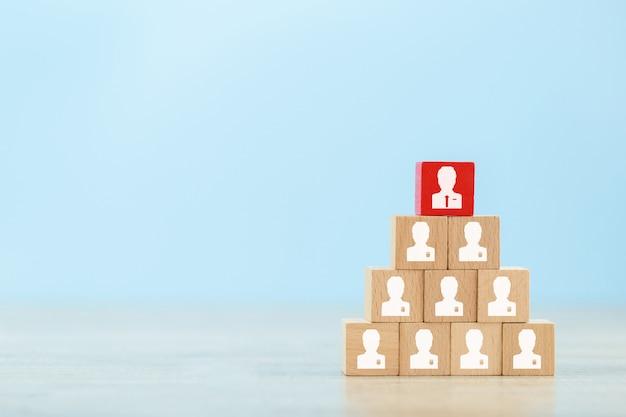 Gestão de recursos humanos e conceito de negócio de recrutamento. Foto Premium