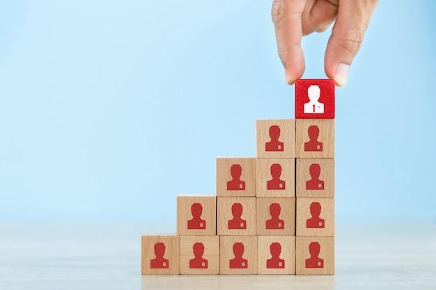 Gestão de recursos humanos e conceito de negócio de recrutamento Foto Premium