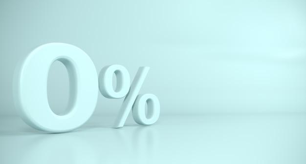 Golden 3d sign zero por cento fundo azul Foto Premium