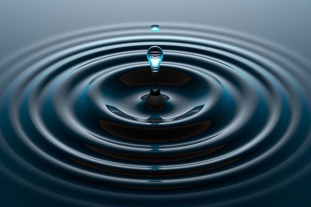 Gota de água caindo na superfície da água Foto Premium