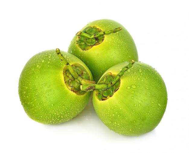 Gota de água verde coco isolado Foto Premium