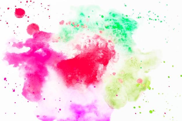 Gotas de aguarela colorida Foto gratuita