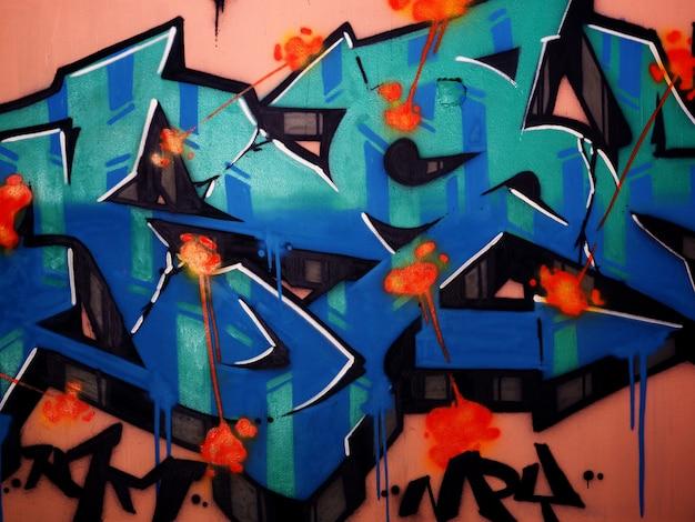 Graffiti wall art pintura a óleo abstrato Foto Premium