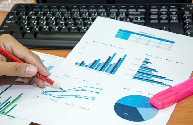 Gráfico de análise financeira Foto Premium